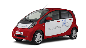 i-MiEV electriQ en RED METALLIC SILKY WHITE couleur