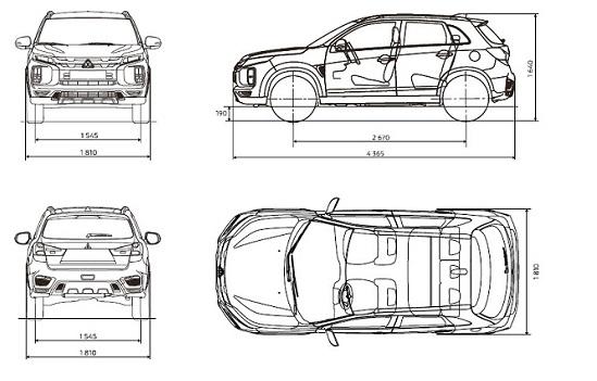 Mitsubishi ASX Les dimensions