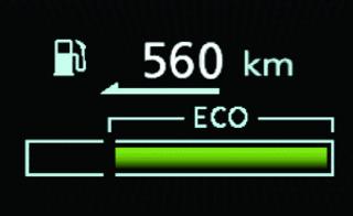 Mitsubishi Outlander INDICATEUR D'ECO-CONDUITE