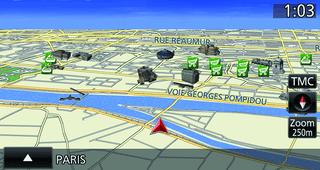 Mitsubishi Outlander VUE CARTOGRAPHIQUE EN 3D