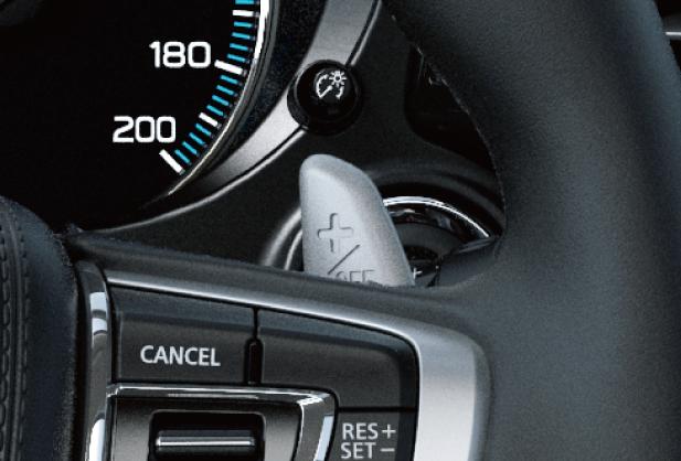 Mitsubishi Outlander PHEV SELECTEUR DE NIVEAU D'INTENSITE DU FREINAGE A RECUPERATION D'ENERGIE (TYPE PALETTES)