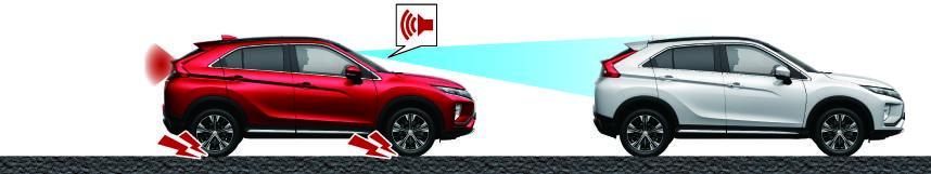 Mitsubishi Eclipse Cross SYSTEME DE REDUCTION DE VITESSE AVANT COLLISION (FCM)