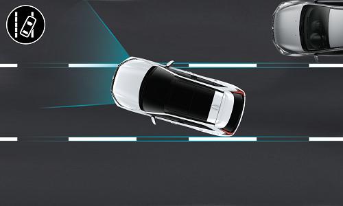 Mitsubishi Eclipse Cross PHEV ALERTE DE FRANCHISSEMENT INVOLONTAIRE LIGNE (LDW)