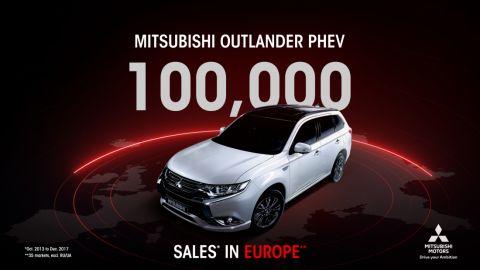 100 000 ventes cumulées en Europe pour l'OUTLANDER PHEV