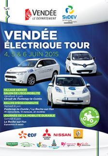 2ème édition du Vendée Électrique Tour - 4, 5 & 6 JUIN 2015.