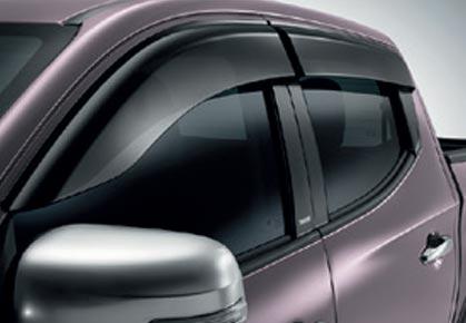 Déflecteurs de vitres latérales, avec logo