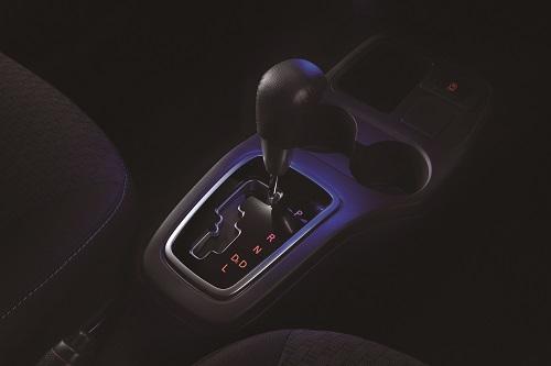Eclairage de console centrale, lumière bleue