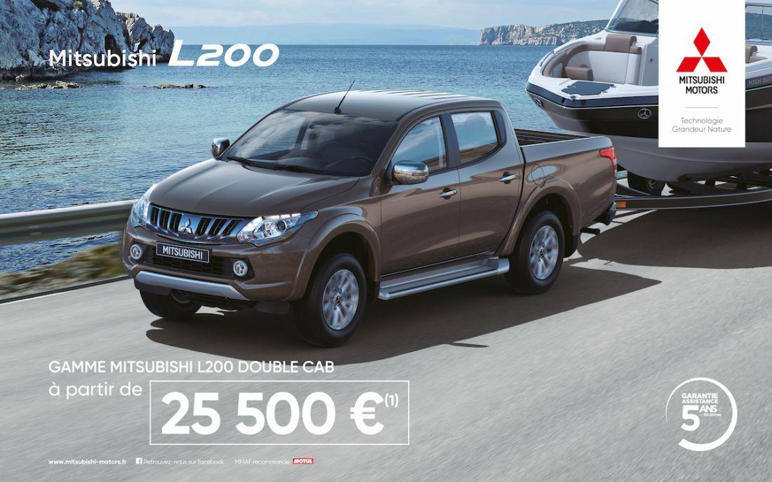 GAMME MITSUBISHI L200 DOUBLE CAB à partir de 25500 € (1)