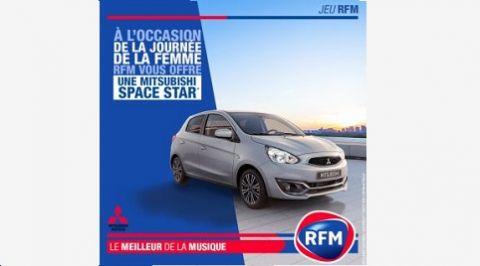 JOURNEE DE LA FEMME : RFM ET MITSUBISHI MOTORS VOUS OFFRENT UNE SPACE STAR