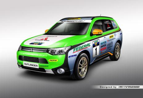 L'Outlander PHEV à l'assaut de l'Asia Cross Country Rally 2014 pour la deuxième année consécutive
