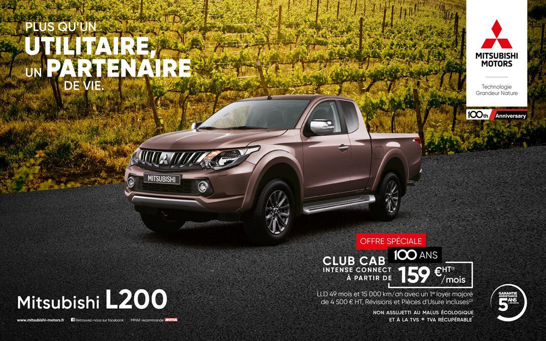 L200 Club Cab intense connect a partir de 159 euros ttc par mois<sup>1</sup>