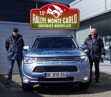 Le Nouvel Outlander PHEV fait parti du 15e Rallye Monte-Carlo des Energies Nouvelles