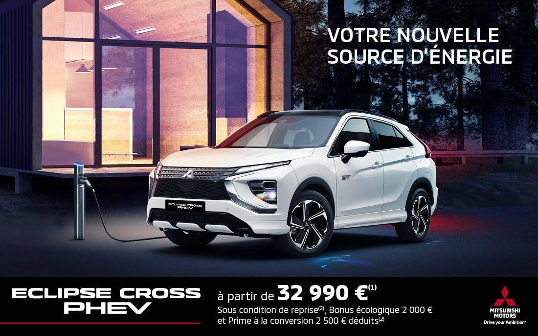 Mitsubishi Eclipse Cross PHEV MISTUBISHI ECLIPSE CROSS PHEV À PARTIR DE 32 990 € (1)