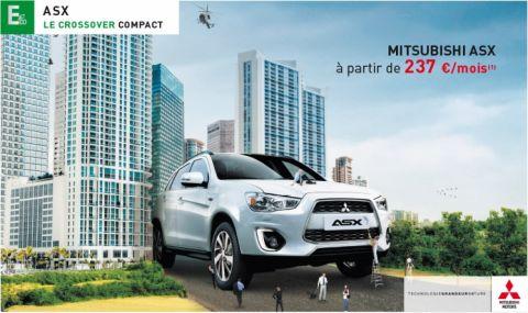 Mitsubishi ASX à partir de 237 € par mois