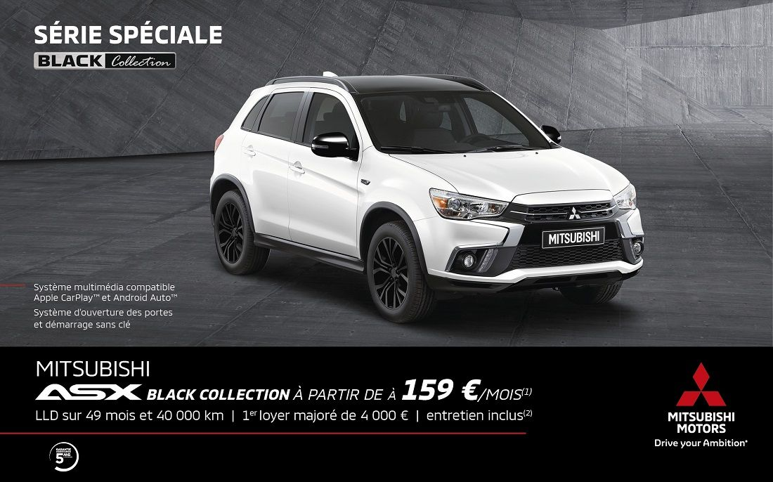 MITSUBISHI ASX BLACK COLLECTION À PARTIR DE 159€/mois<SUP>(1)</SUP>