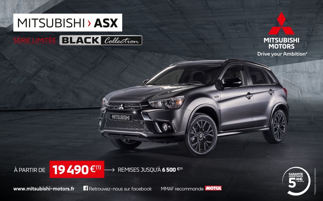 Mitsubishi ASX Black Collection à partir de 19 490 €(1)