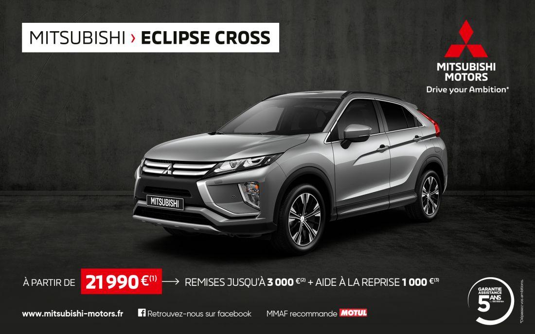 Mitsubishi Eclipse Cross à partir de 21 990€(1)
