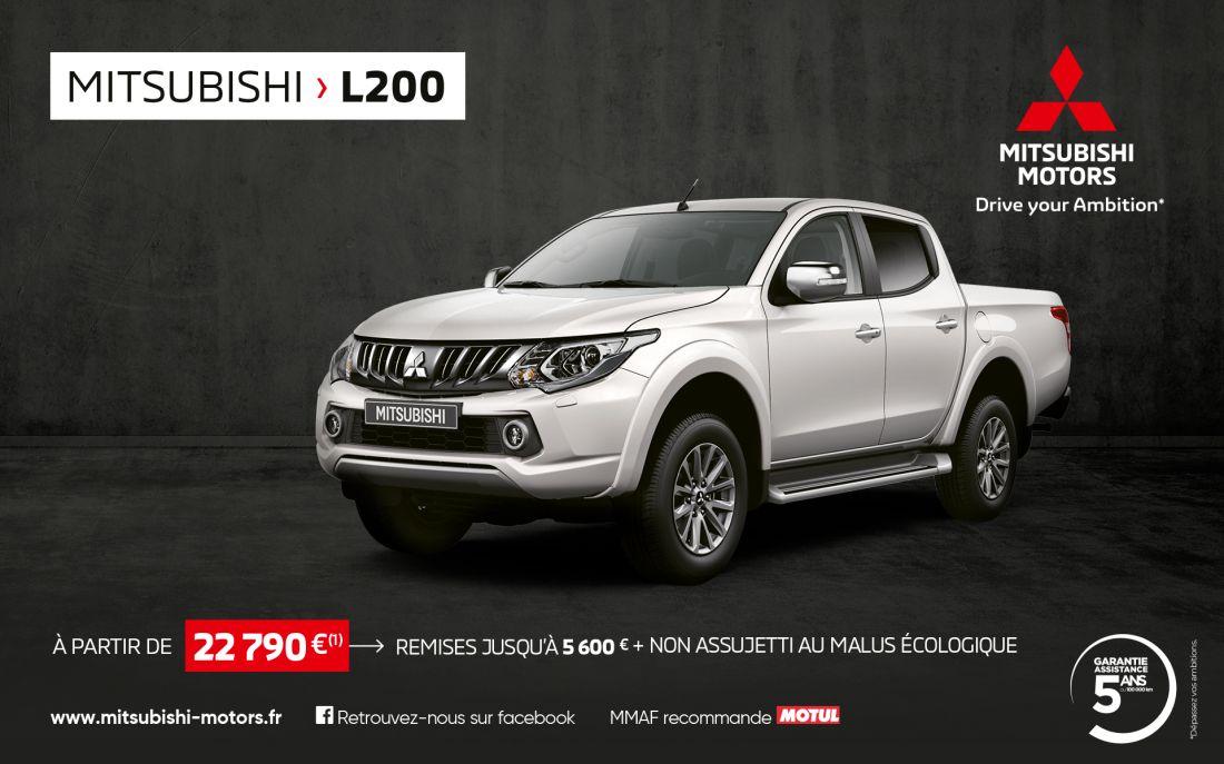Mitsubishi L200 à partir de 22 790€(1)