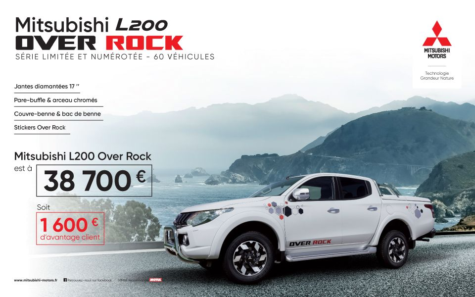 Mitsubishi L200 Over Rock à 38700€