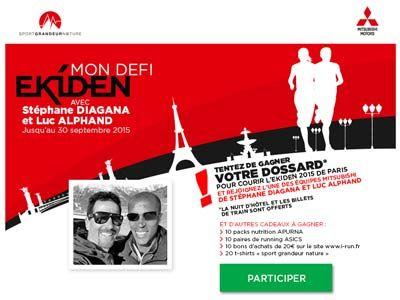 Mitsubishi Motors dans la course avec Luc Alphand et Stéphane Diagana