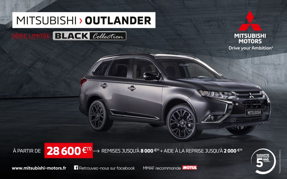 Mitsubishi Outlander Black Collection à partir de 28 600 €(1)