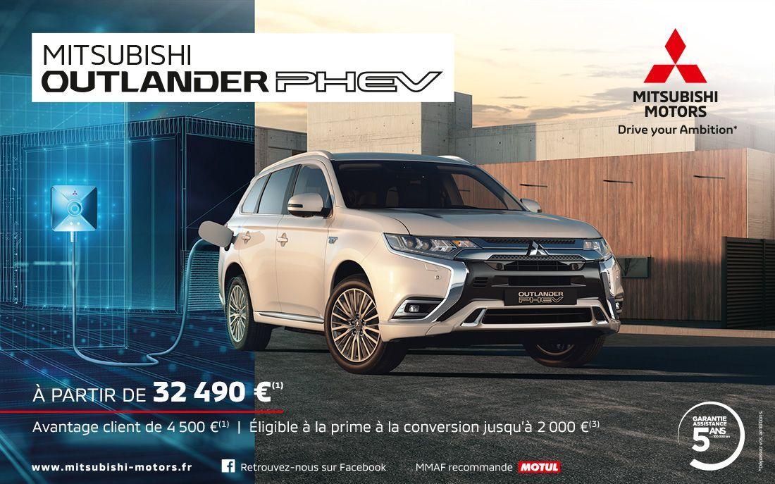 Mitsubishi Outlander PHEV MITSUBISHI OUTLANDER PHEV À PARTIR DE 32 490€<SUP>(1)</SUP>