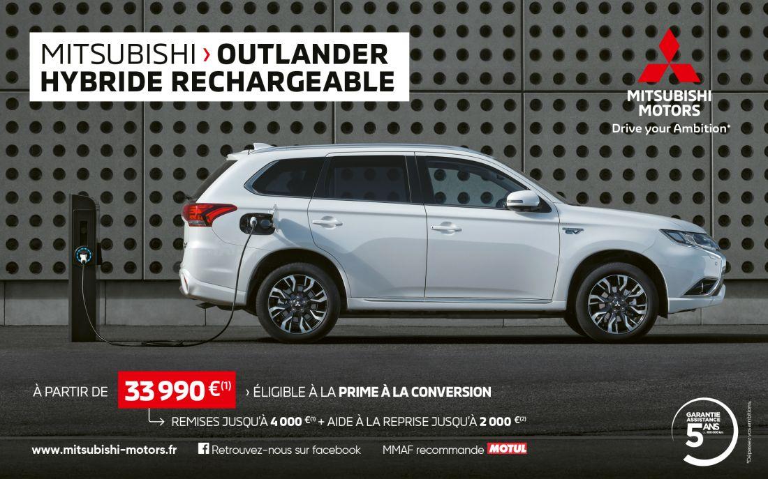 Mitsubishi Outlander PHEV a partir de 33 990 euros