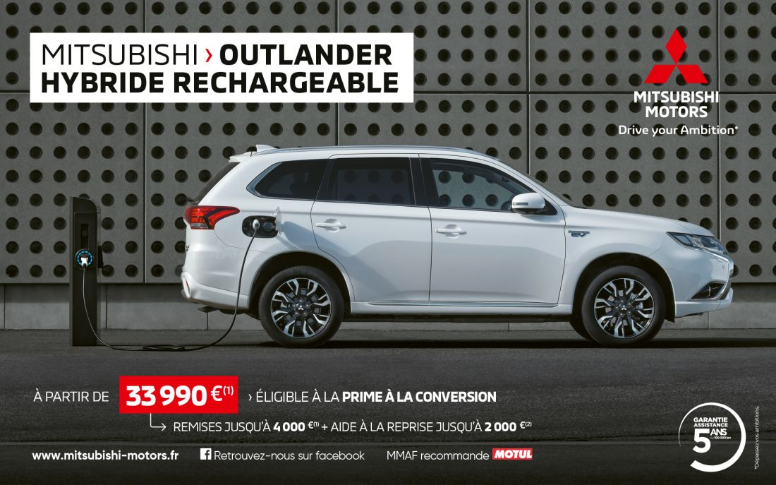 Mitsubishi Outlander PHEV a partir de 33 990€(1)