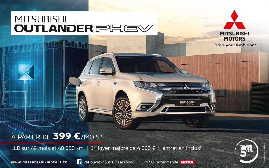 Mitsubishi Outlander PHEV MITSUBISHI OUTLANDER PHEV À PARTIR DE 399 €/MOIS<SUP>(1)</SUP>