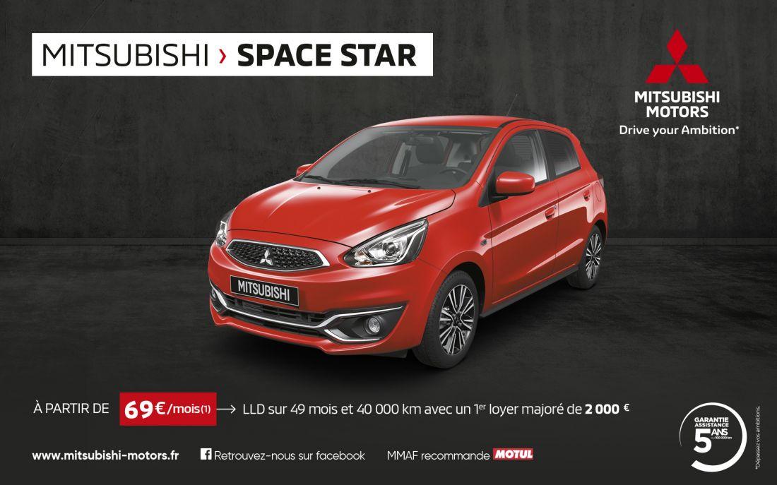 Mitsubishi Space Star à partir de 69 euros par mois<sup>(1)</sup>