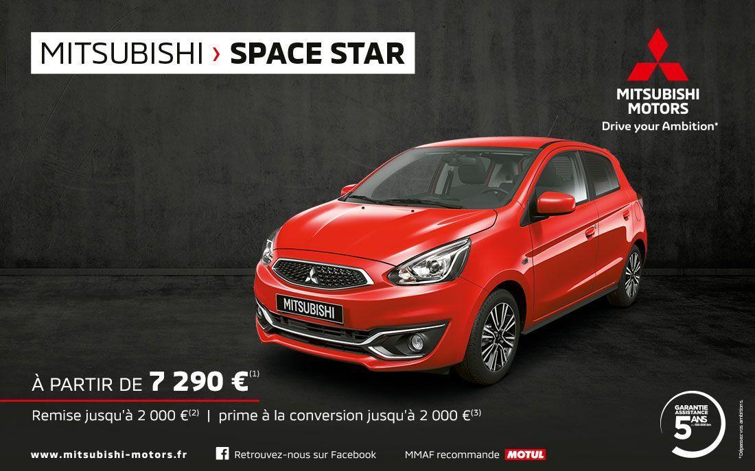 MITSUBISHI SPACE STAR A PARTIR DE 7 290 EUROS<SUP>(1)</SUP>