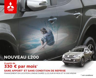 Nouveau L200 à partir de 330 € par mois (1)