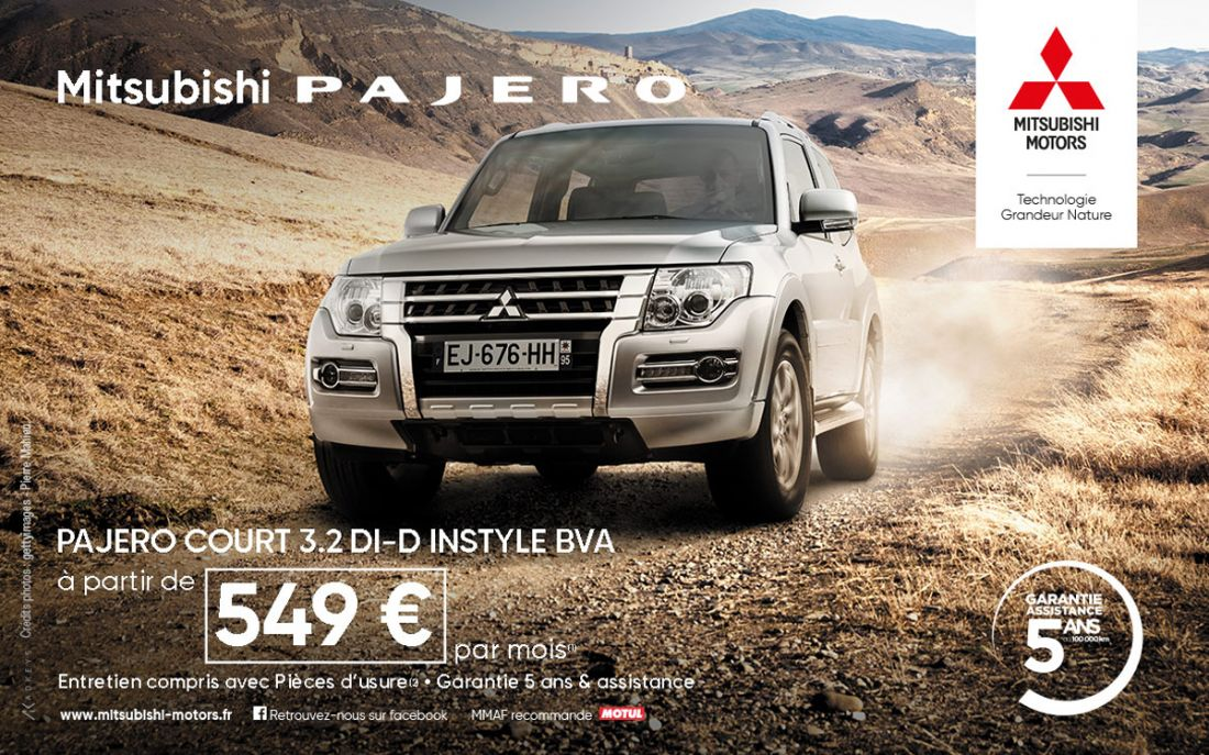 Offre Pajero 549€ Avril 2017