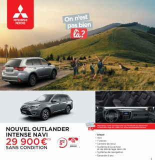 OUTLANDER INTENSE NAVI 29 900 €(1) SANS CONDITION