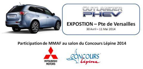 Participation de Mitsubishi Motors au salon du Concours Lépine 2014