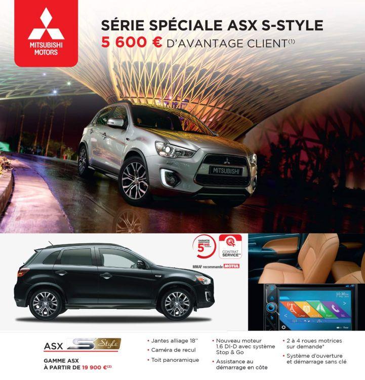 SÉRIE SPÉCIALE ASX S-STYLE 5600€ D'AVANTAGE CLIENT(1)