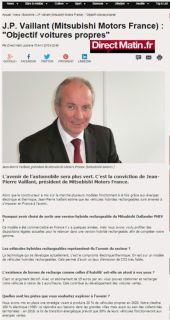 "Sur DirectMatin.fr: ""Objectif voitures propres"""